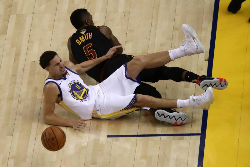 2997fa5b2f2 Klay Thompson on JR Smith Play That Injured Him in Game 1   It Pissed Me  Off