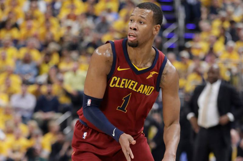 c7c128e6f9c4 Cleveland Cavaliers  Rodney Hood in action during the first half of Game 3  of a