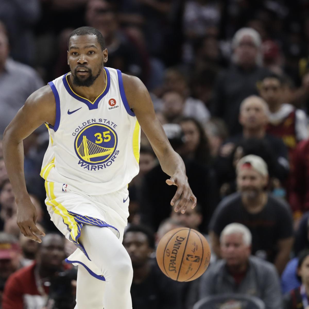 Kevin Durant Wins 2018 NBA Finals MVP After Warriors' 3rd