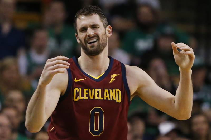 07c5cfd2e Cleveland Cavaliers center Kevin Love (0) reacts with frustration during  the third quarter of
