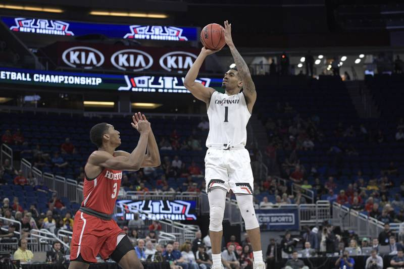 0d72871b5c8 Cincinnati guard Jacob Evans (1) goes up for a shot in front of Houston.  Phelan M. Ebenhack Associated Press. The Golden State Warriors selected ...