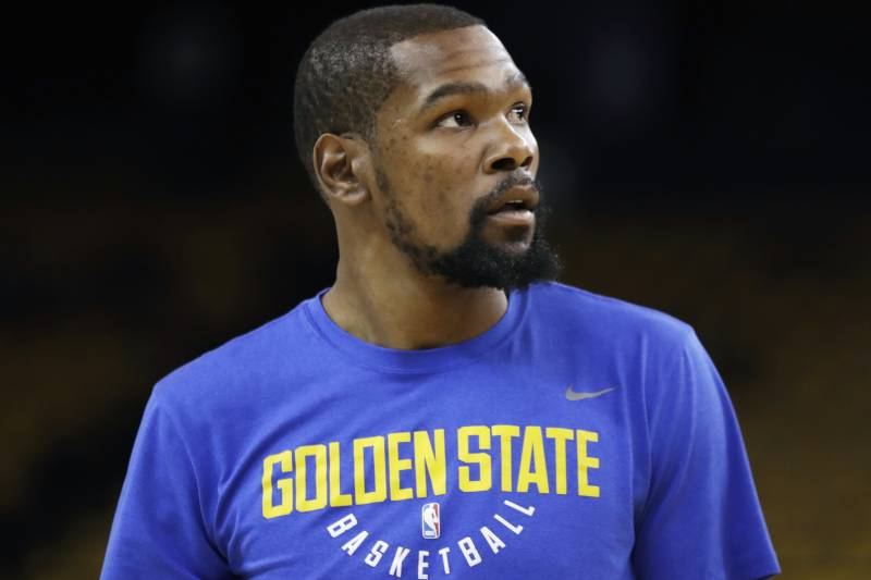 d676b6c559c7 Golden State Warriors forward Kevin Durant warms up before Game 2 of  basketball s NBA Finals between