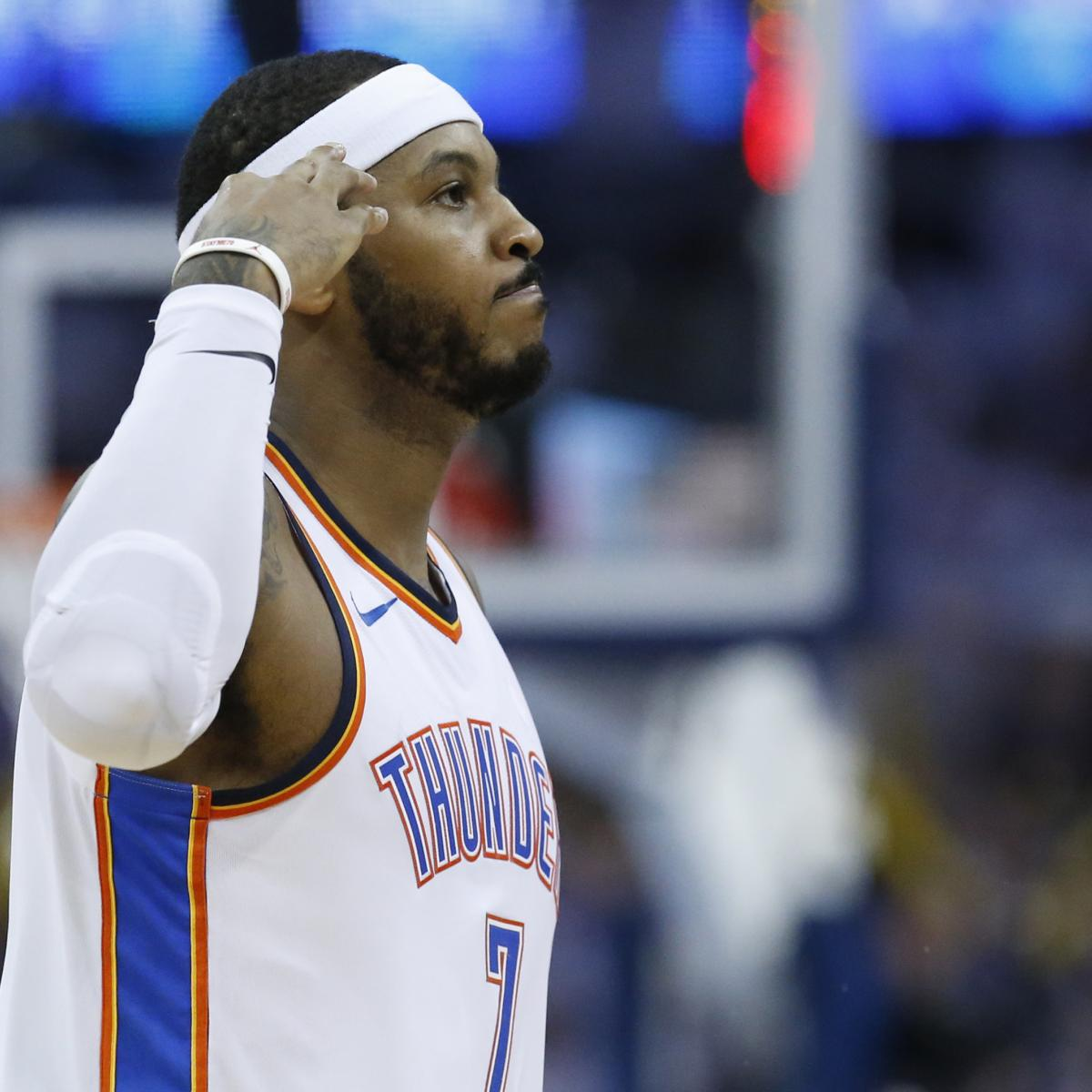 Carmelo Anthony Rumors: Thunder Star Does Not Plan to Opt ...
