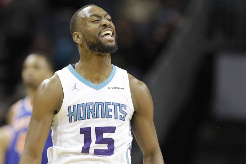 size 40 3a8e0 36850 Charlotte Hornets  Kemba Walker (15) reacts after making a 3-point basket