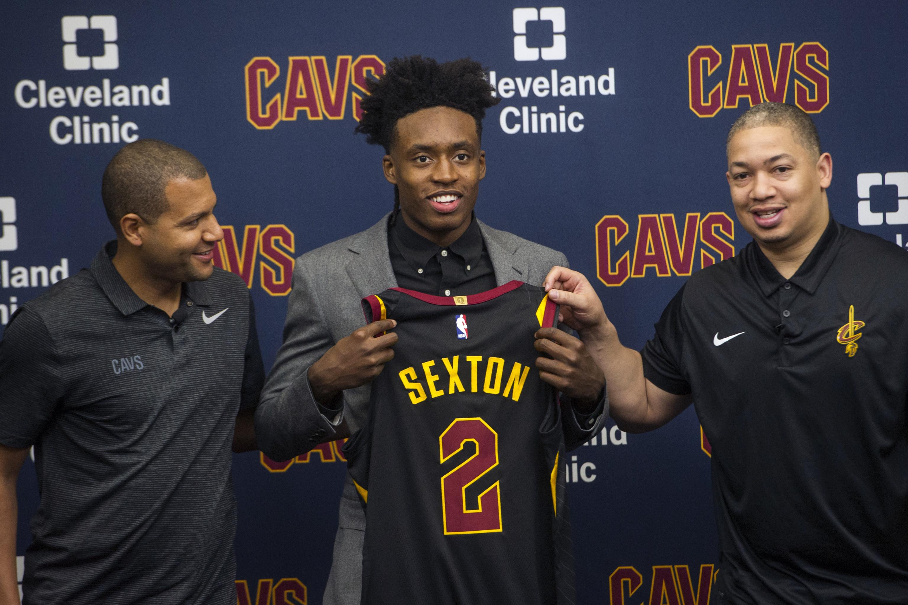 huge selection of b56ba 900ec How Collin Sexton Fits with LeBron James, Cleveland ...