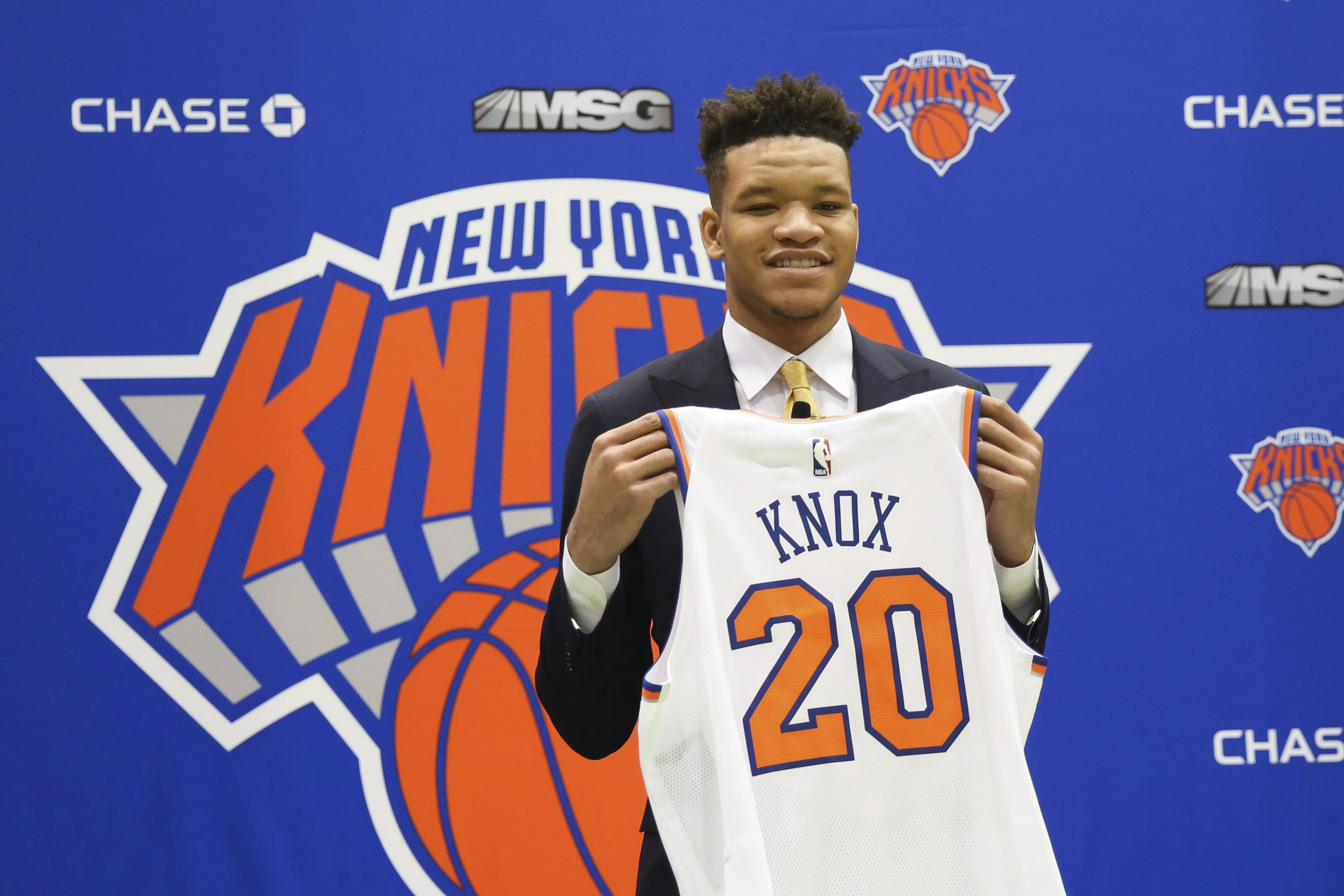 newest 02b61 a49b3 Knicks' Kevin Knox Says 'Rookie of the Year' Goal Will Be on ...