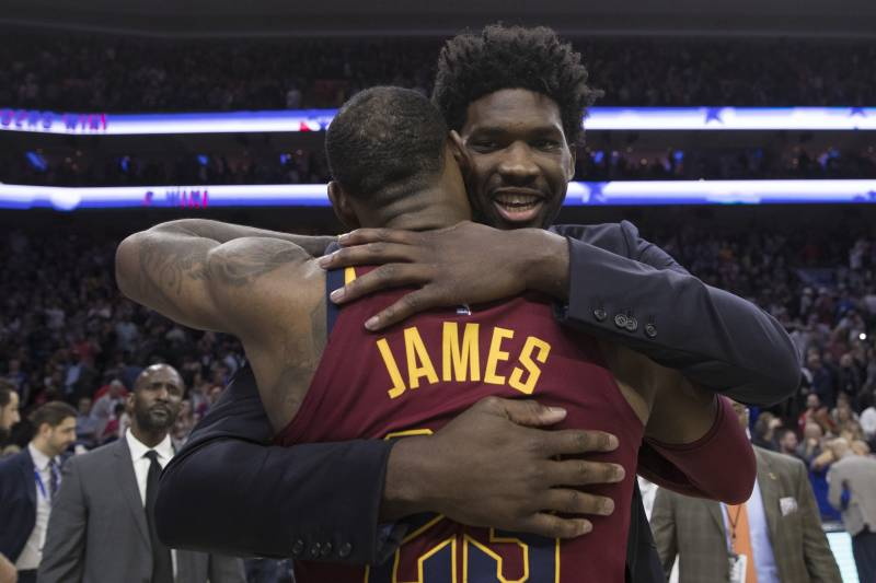 7ca827c7f Joel Embiid on LeBron James Joining 76ers   I Want to Be a Champion ...