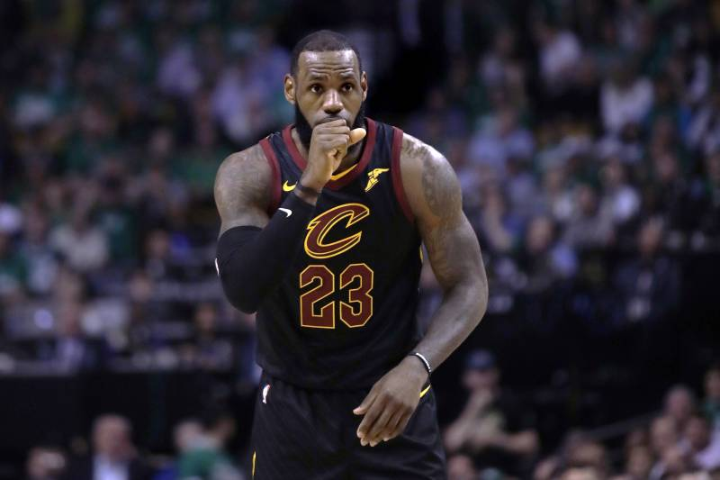 Cleveland Cavaliers forward LeBron James during Game 5 of the NBA basketball Eastern Conference finals in Boston, Wednesday, May 23, 2018. (AP Photo/Charles Krupa)