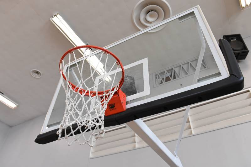 BEVERLY HILLS, CA - MAY 09: A generic basketball photo of the backboard at JEM Community Center during the NBA Playmakers Influencer Shoot - Skills & Drills in Los Angeles on May 09, 2017 in Beverly Hills, California. NOTE TO USER: User expressly acknowledges and agrees that, by downloading and/or using this Photograph, user is consenting to the terms and conditions of the Getty Images License Agreement. Mandatory Copyright Notice: Copyright 2018 NBAE (Photo by Adam Pantozzi/NBAE via Getty Images)