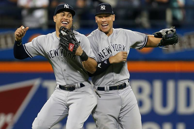 reputable site a1ab7 f33bf Giancarlo Stanton, Aaron Judge Explain Why They're Skipping ...