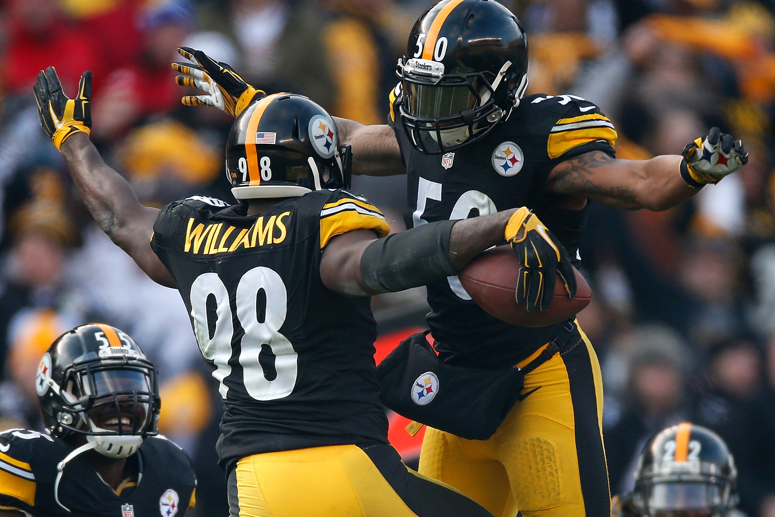 the latest a35d5 ffeac Ryan Shazier and Vince Williams Forged Brotherhood out of ...