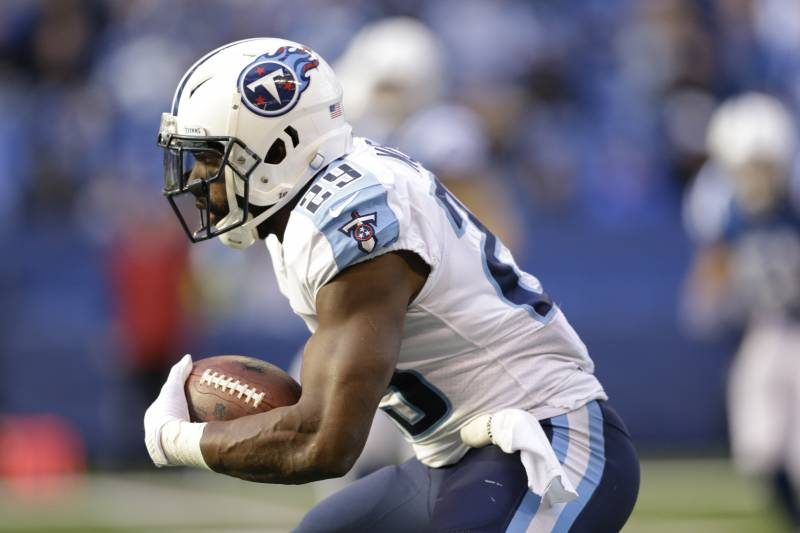 fa53e19ee7e Tennessee Titans  DeMarco Murray runs during the second half of an NFL  football game against