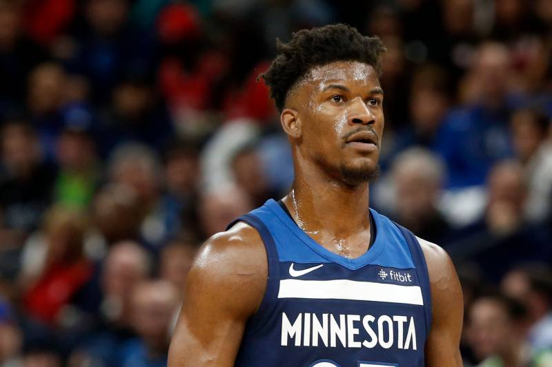 c6f464a38ff Minnesota Timberwolves  Jimmy Butler plays against the Houston Rockets in  the first half during Game
