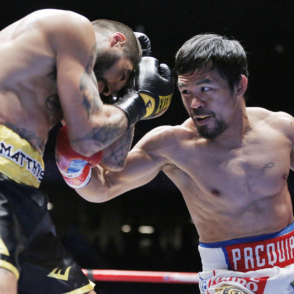 Pacquiao Vs. Matthysse: Scorecard Results, Complete Punch