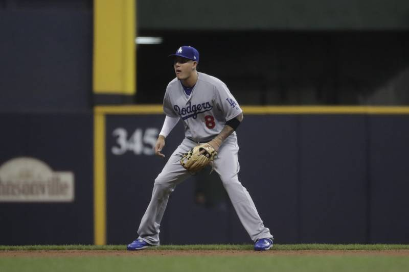 82ee682ad Los Angeles Dodgers shortstop Manny Machado during the second inning of a  baseball game against the