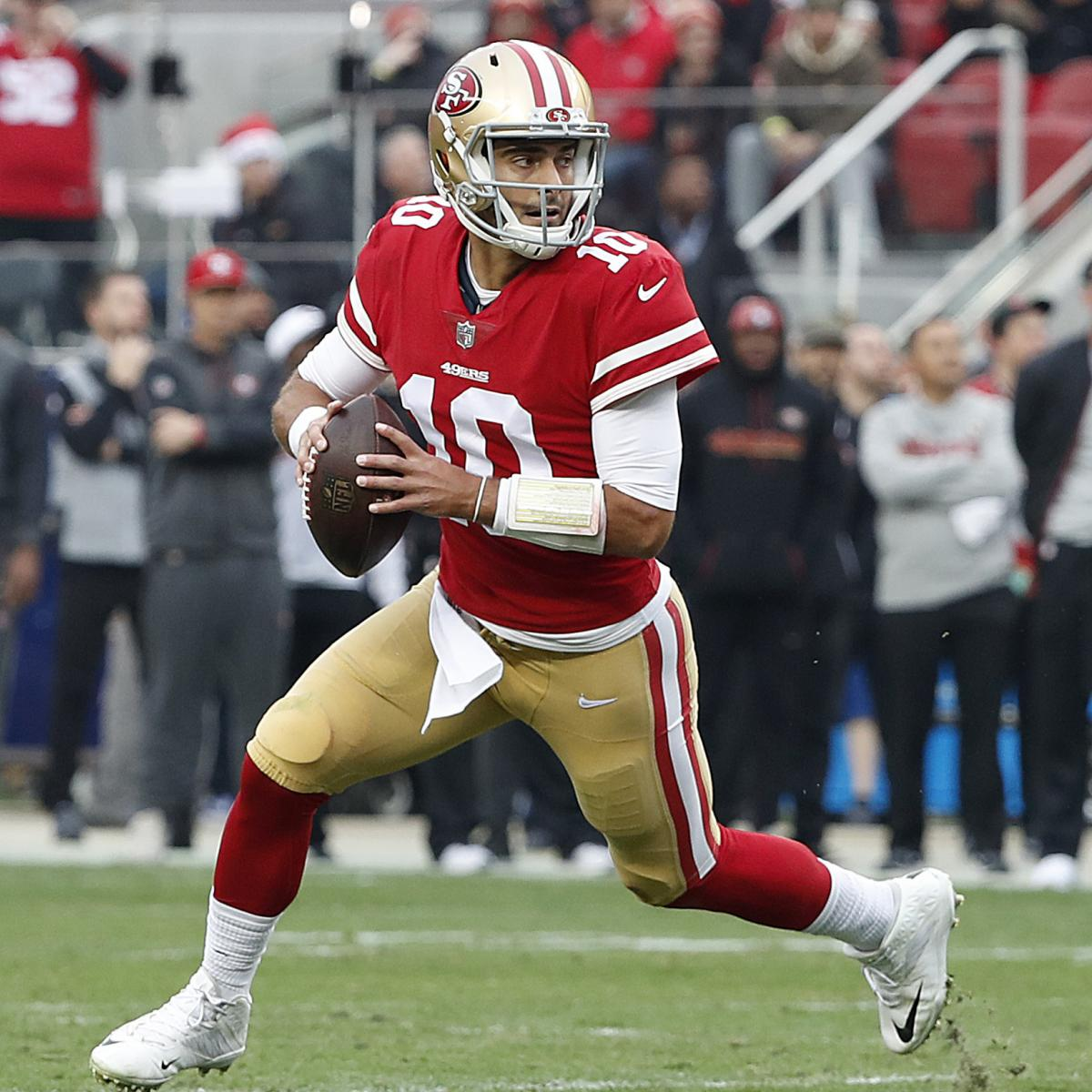 49ers' Jimmy Garoppolo Carted off Field After Suffering Knee Injury vs. Chiefs