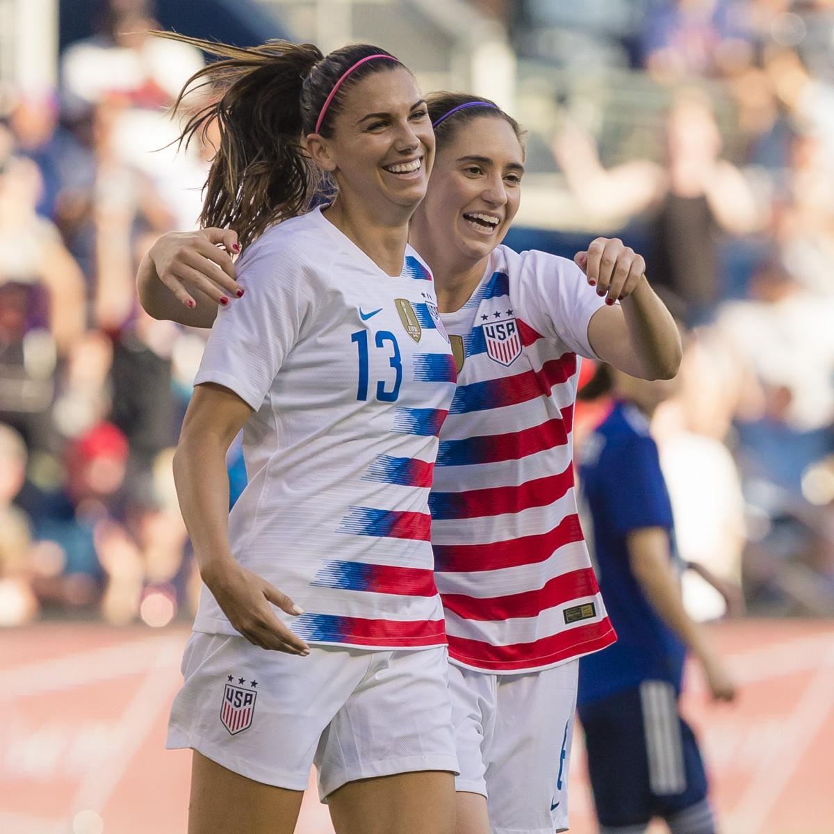 70803332aec USA Women s Soccer Beats Japan in Friendly Behind Alex Morgan Hat Trick