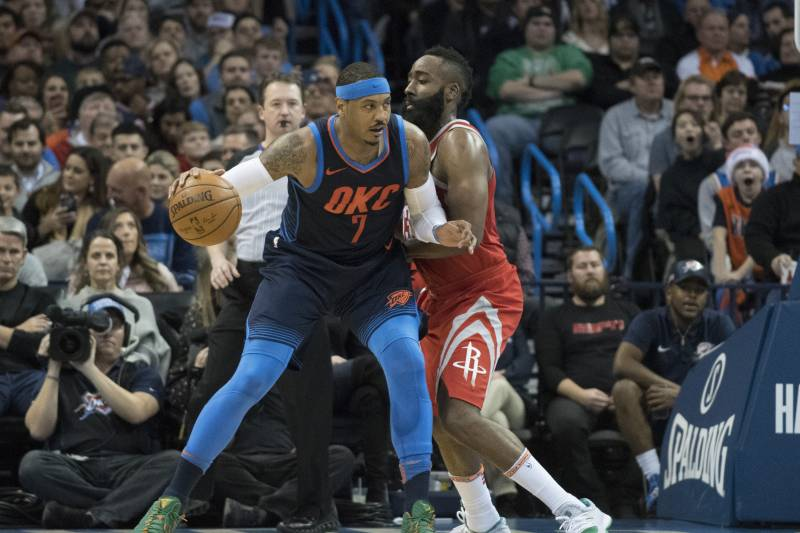 035d6f72b557 James Harden Says He s Been in Contact with Carmelo Anthony ...