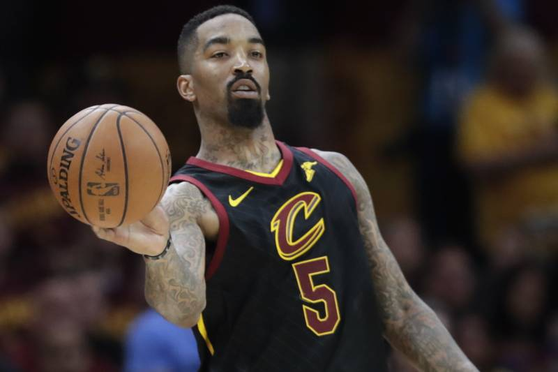 3b57c2be10c0 Cleveland Cavaliers  JR Smith (5) passes against the Boston Celtics in the  second