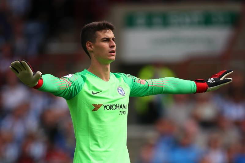 HUDDERSFIELD, ENGLAND - AUGUST 11: Kepa Arrizabalaga of Chelsea during the Premier League match between Huddersfield Town and Chelsea FC at John Smith's Stadium on August 11, 2018 in Huddersfield, United Kingdom. (Photo by Robbie Jay Barratt - AMA/Getty Images)