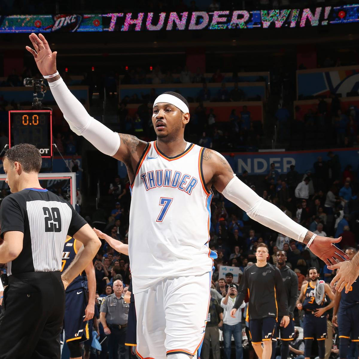 Carmelo Anthony Pens Thank-You Letter to Thunder After ...