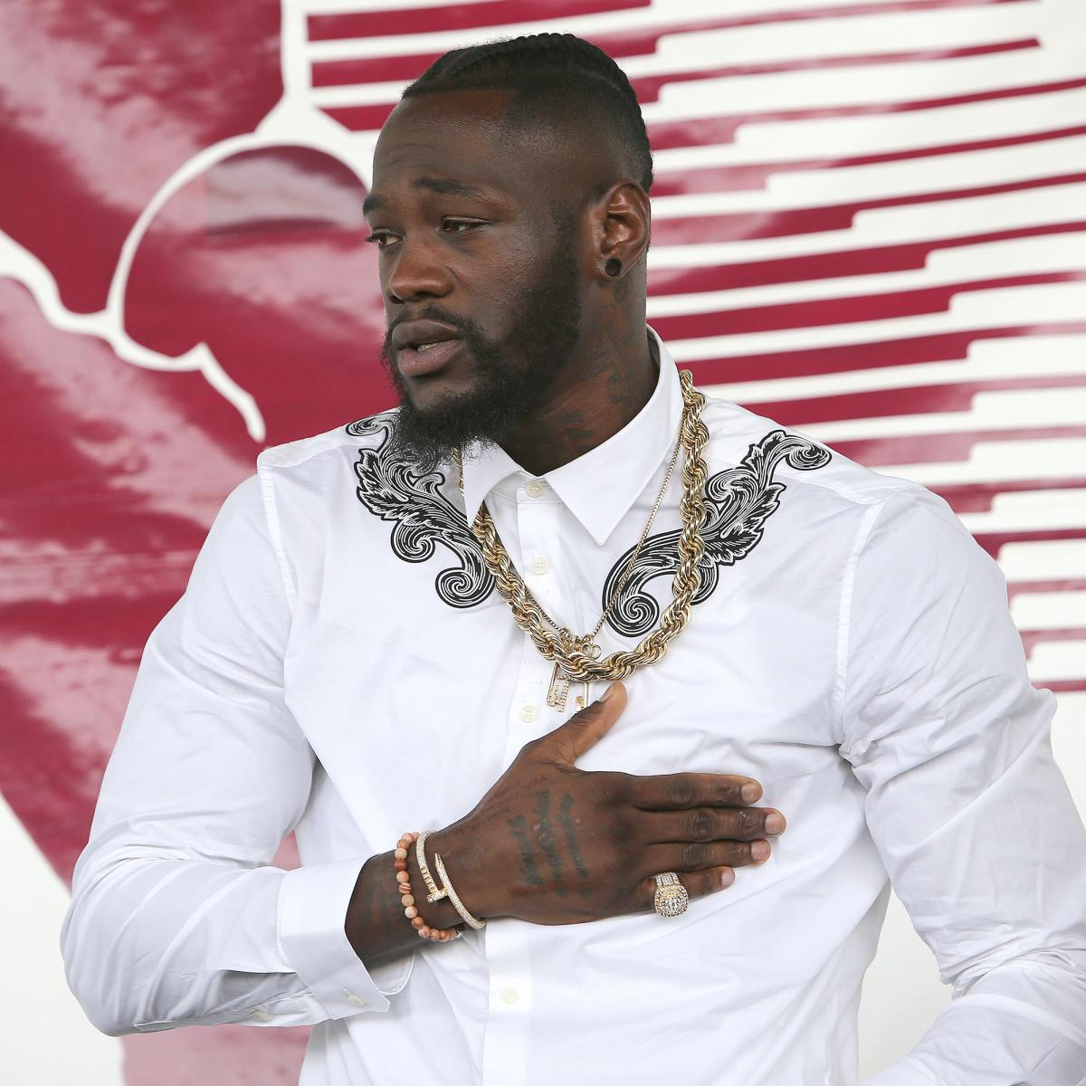 Deontay Wilder Hit By Pint Of Beer Ringside At Tyson Fury