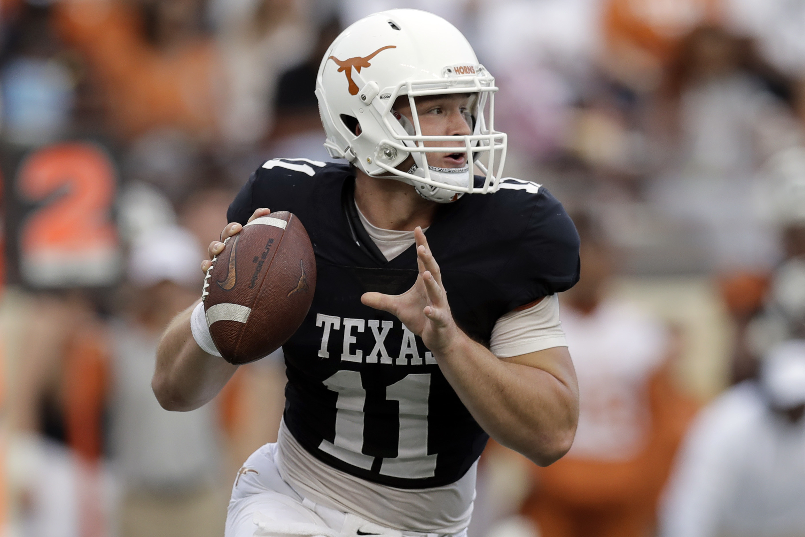 hot sales 592af 97481 Sam Ehlinger Named Texas' Starting QB vs. Maryland over ...