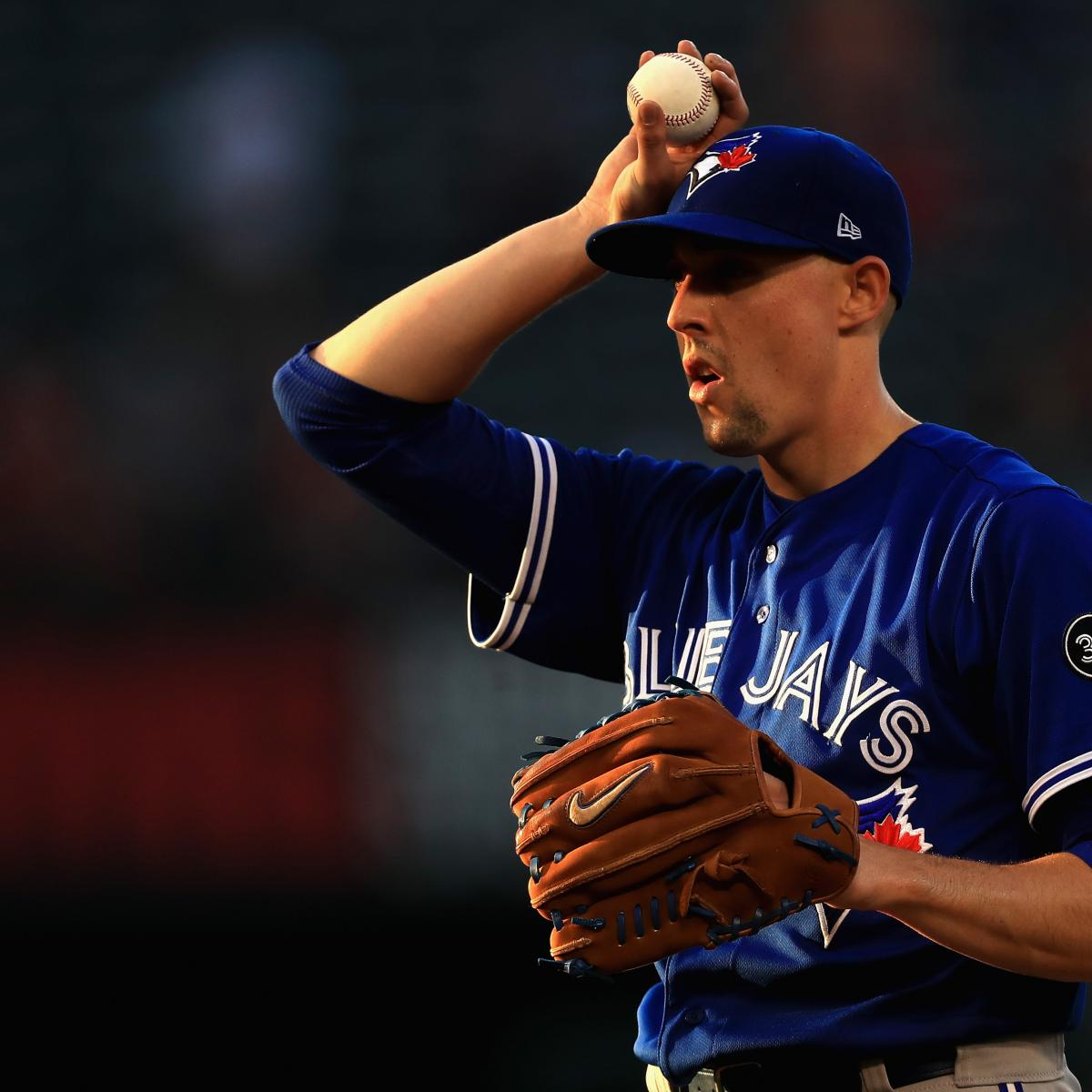 Blue Jays' Aaron Sanchez Says He Injured Finger By Getting