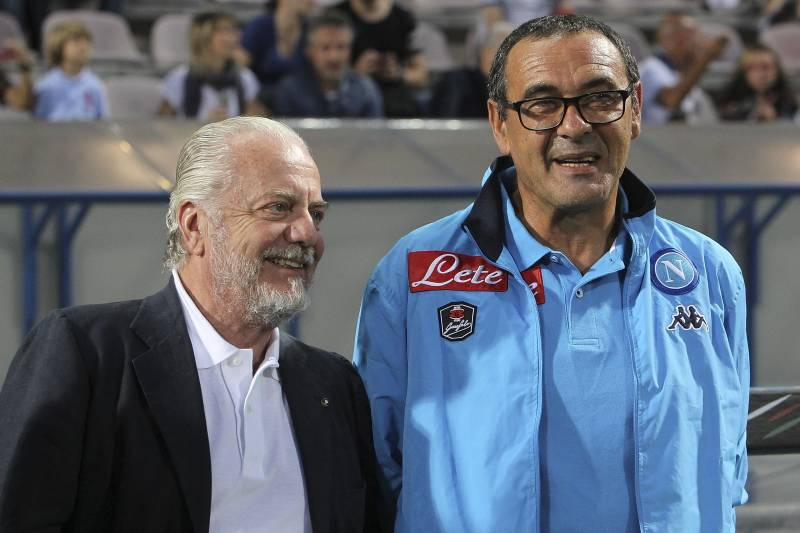 Pernah Berselisih, De Laurentiis Katakan Selamat untuk Sarri