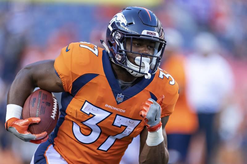 huge selection of 4e347 64be7 Royce Freeman Named Broncos' Starting RB over Devontae ...