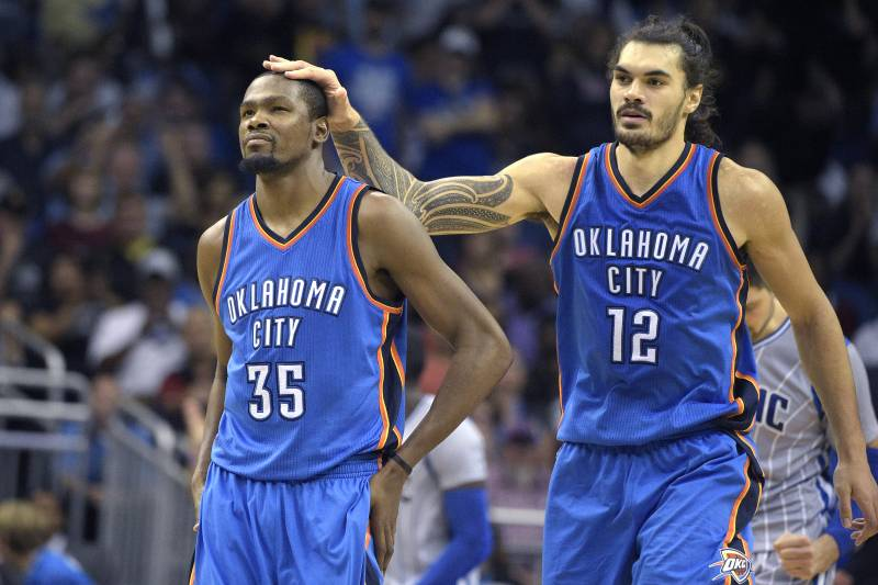 brand new 8d761 82de1 Steven Adams Recalls Kevin Durant Tweeting 'SMH' After Being ...