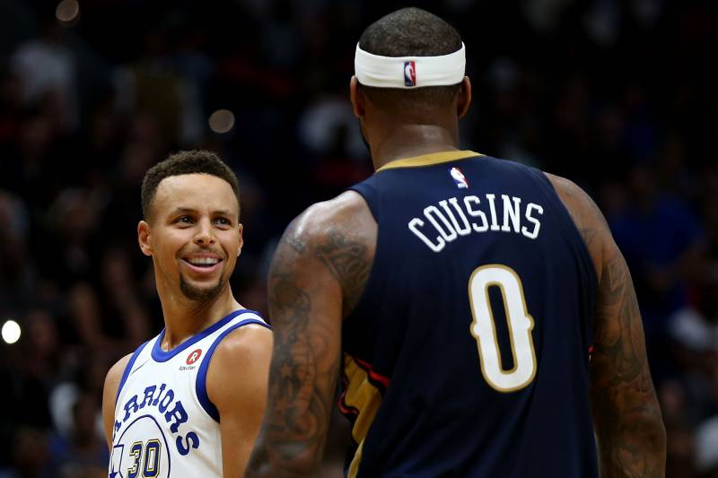 4f64b08b3344 Stephen Curry Found out About Warriors Signing DeMarcus Cousins in Delivery  Room