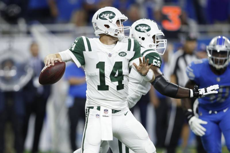 Sam Darnold Jets Dominate Lions 48 17 In Rookie S