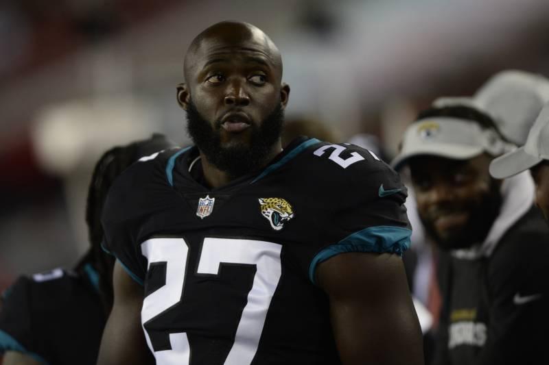 2e8246640b0 Jacksonville Jaguars running back Leonard Fournette (27) during the first  half of an NFL