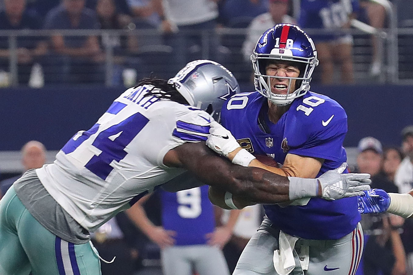 Eli Manning, Porous O-Line Are Sinking the New York Giants' Talented