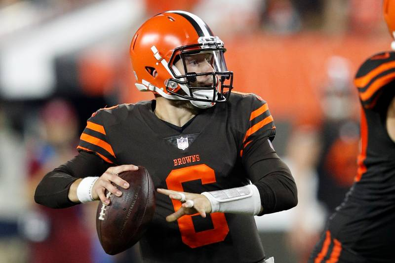 89c188b5f Baker Mayfield Makes Browns Debut After Tyrod Taylor Suffers Head Injury
