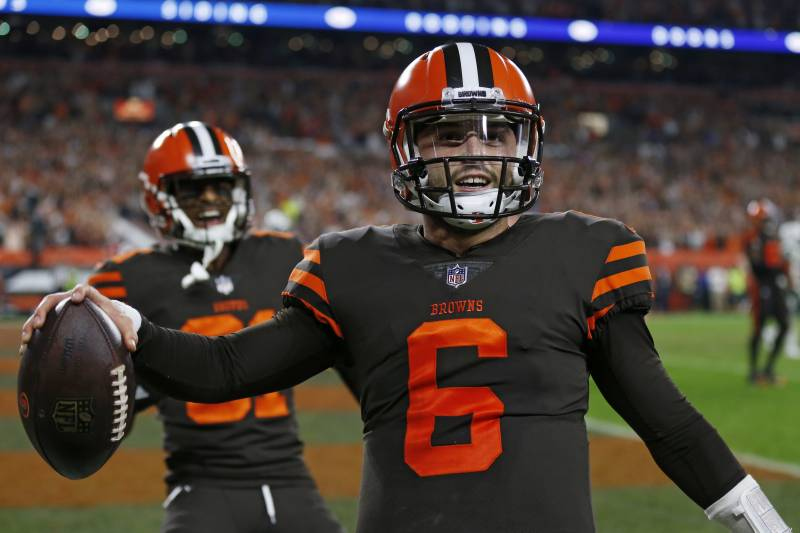 b86be9d06 Baker Mayfield Leads Browns to Epic Comeback in Debut vs. Sam Darnold