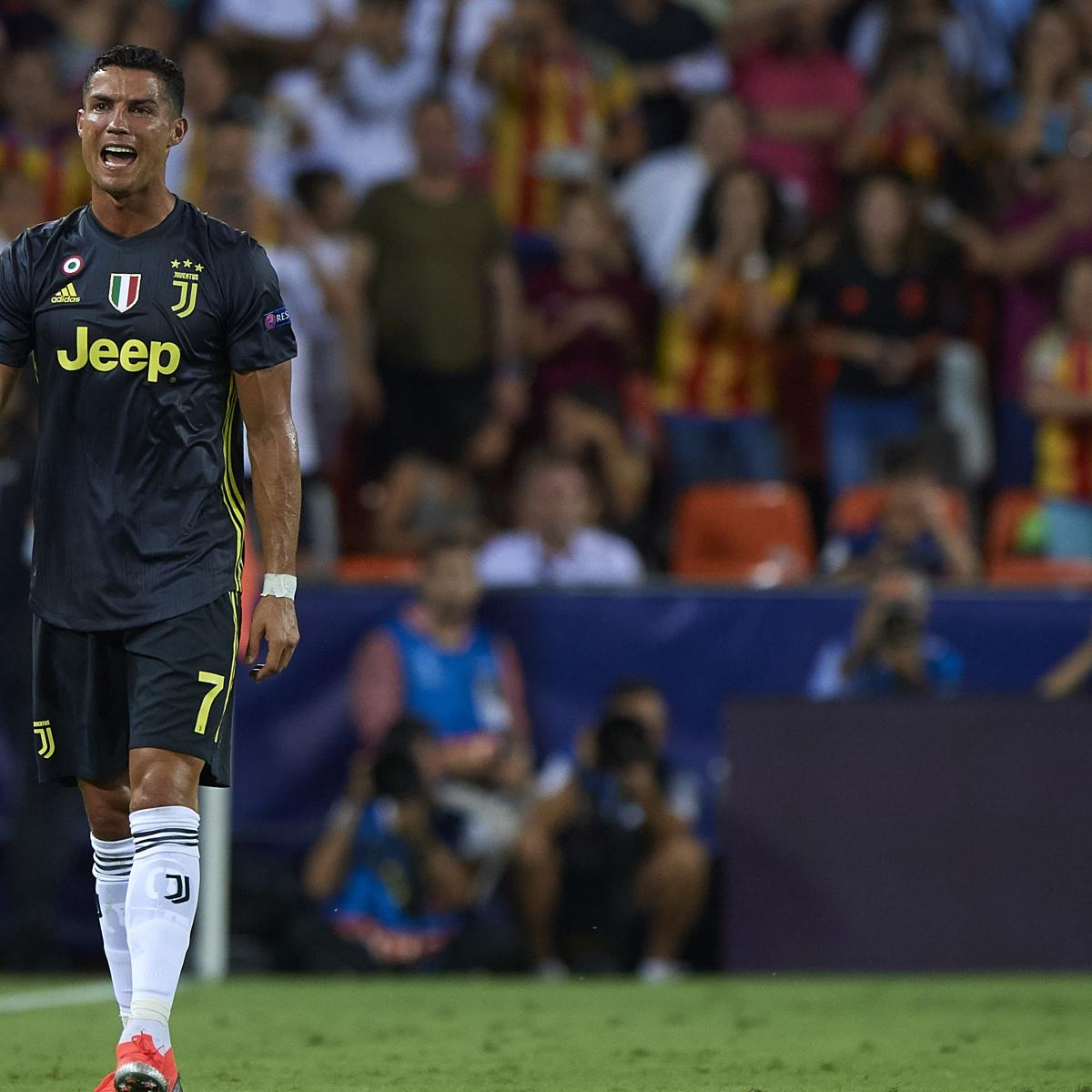 Cristiano Ronaldo Reportedly Set for 1-Game UCL Ban Following Valencia Red Card | Bleacher Report | Latest News, Videos and Highlights