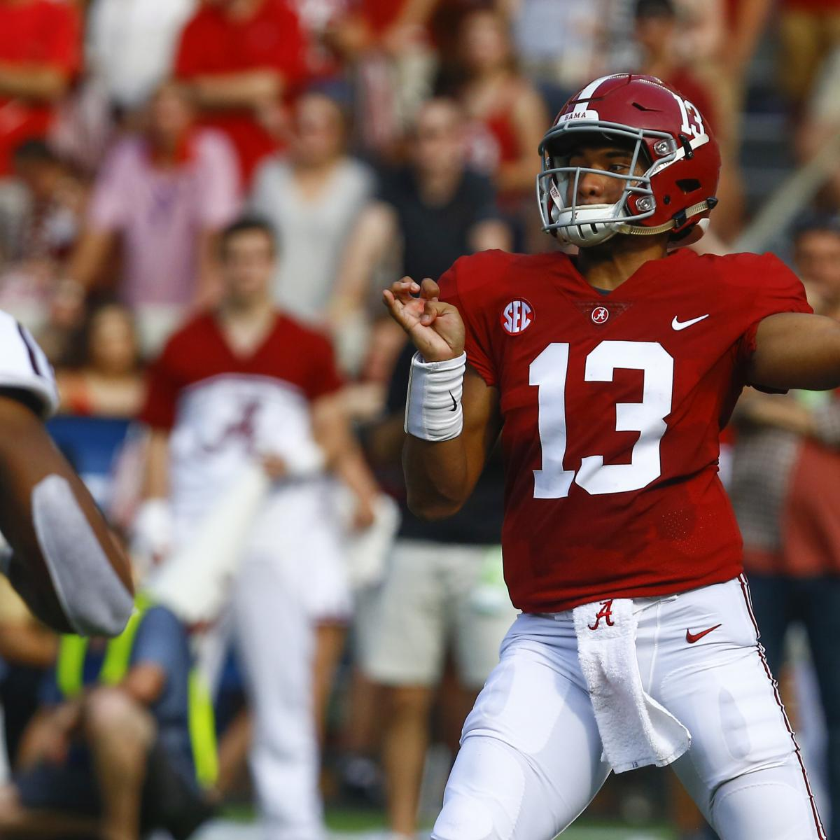 Tua Tagovailoa Has Career Day as Alabama Takes Down Texas A&M 45-23 | Bleacher Report | Latest News, Videos and Highlights