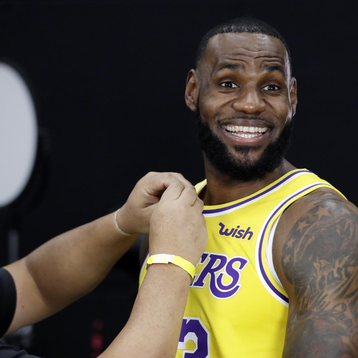 Lakers Media Day 2018: LeBron James, Lonzo Ball Interviews, Photos, Video, More