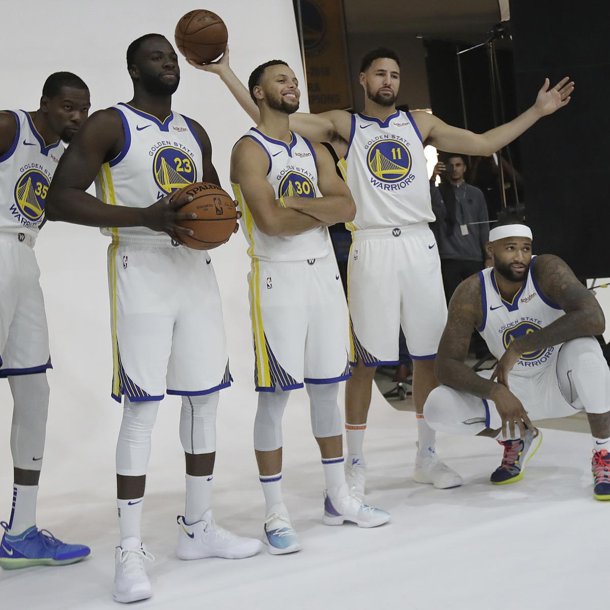 Warriors Movie Clips: Warriors Media Day 2018: Stephen Curry, DeMarcus Cousins