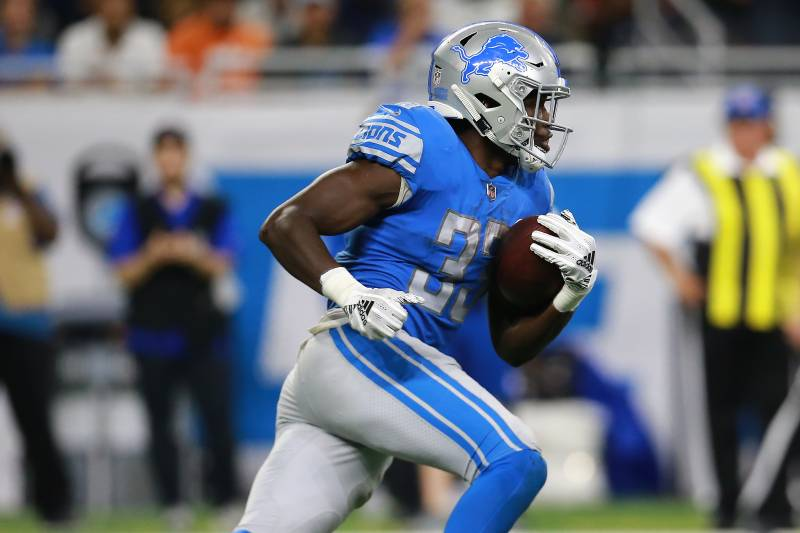 buy online a0f7e 68cdc Lions' Kerryon Johnson's Knee Injury Reportedly a Sprain ...