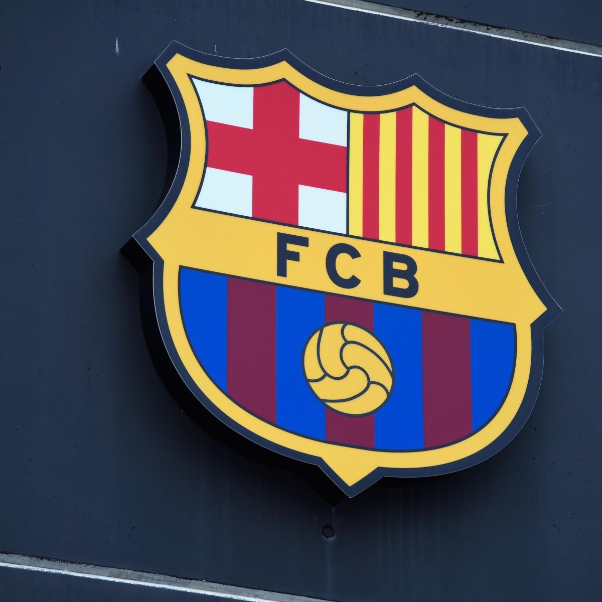 barcelona unveils redesigned crest explains new design bleacher