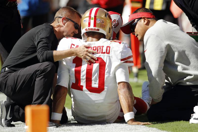 e29ef671b35 49ers Rumors  SF Won t Sign or Trade for Top QB After Jimmy Garoppolo s  Injury