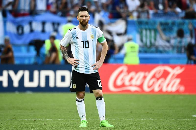 fe2c2083 Argentina's forward Lionel Messi looks on during the Russia 2018 World Cup  round of 16 football