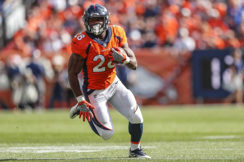 outlet store 2165d f0f20 Schefter: Royce Freeman 'Could Miss Some Time' with Sprained ...