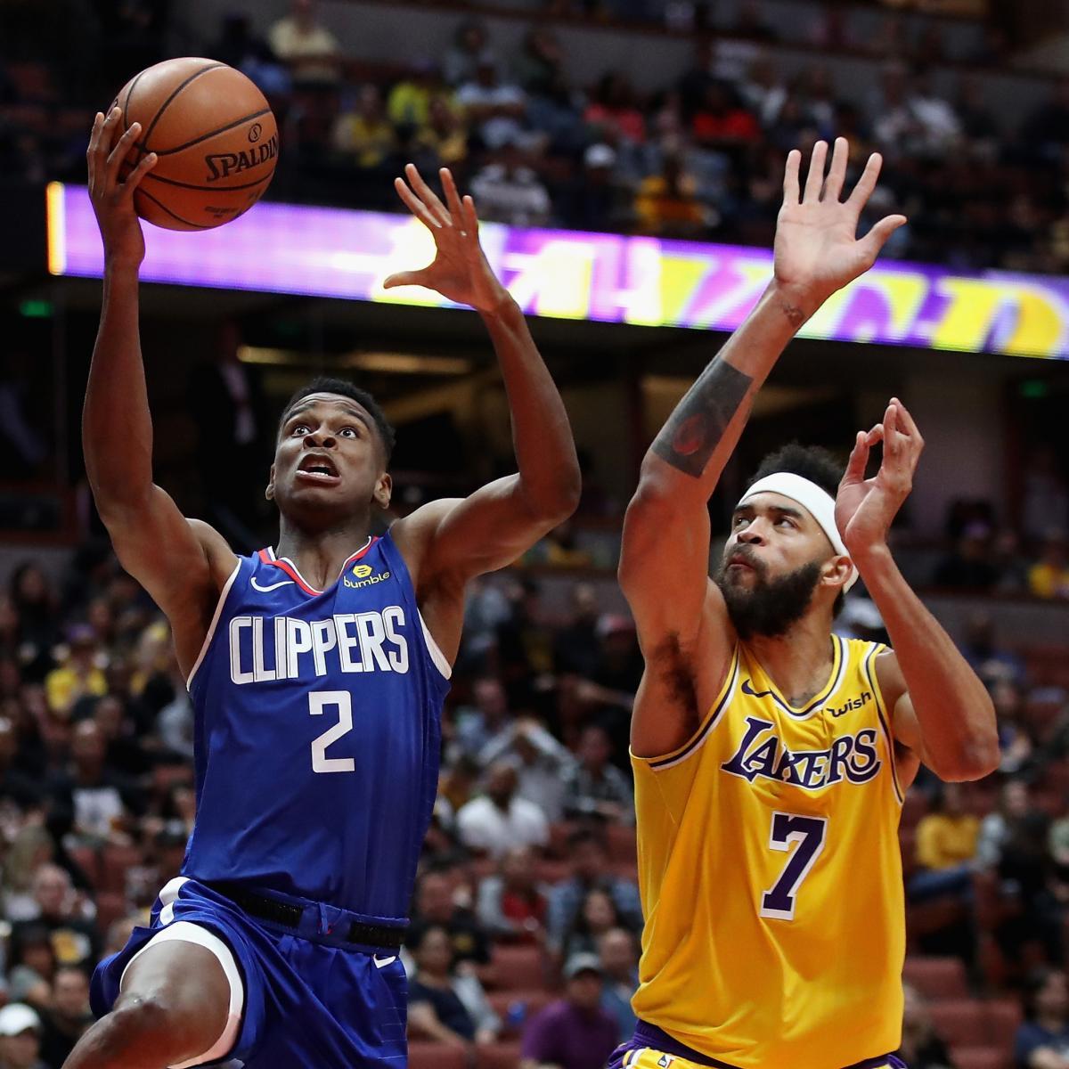 Shai Gilgeous-Alexander, Clippers Beat Lakers In Preseason