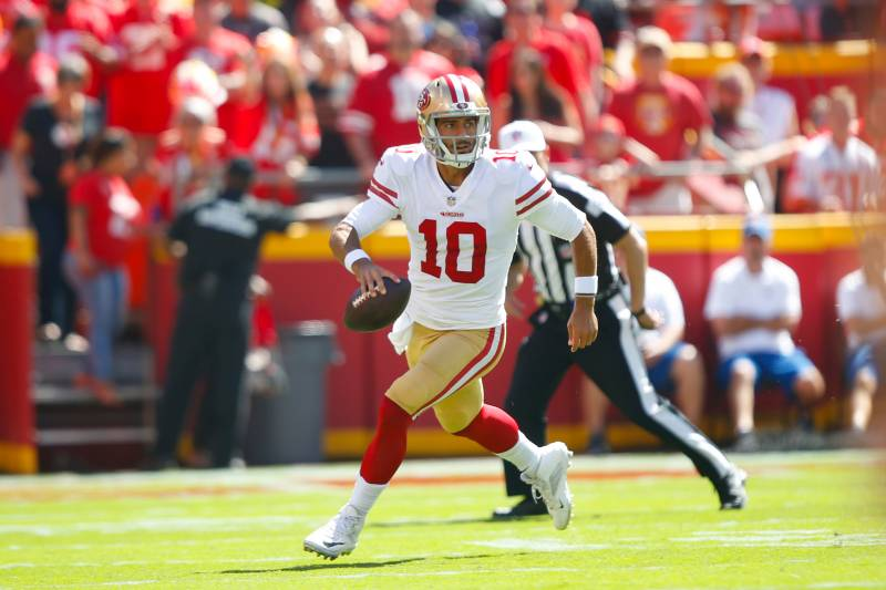 fe273094a94 Report  Jimmy Garoppolo Facing  Obstacle-Free Rehab