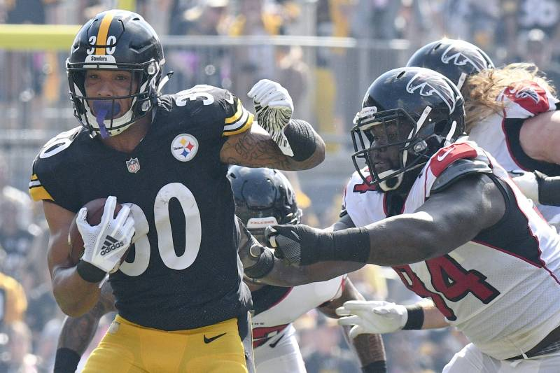 9c080a6206f Pittsburgh Steelers running back James Conner (30) runs against the Atlanta  Falcons in the