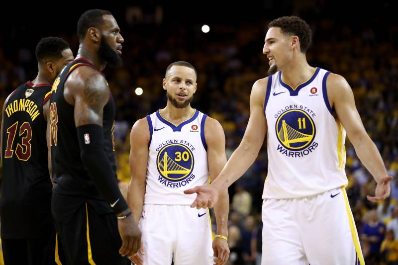 premium selection 7abb5 054f3 Klay Thompson: LeBron James Joining Lakers Is 'Pretty Cool ...